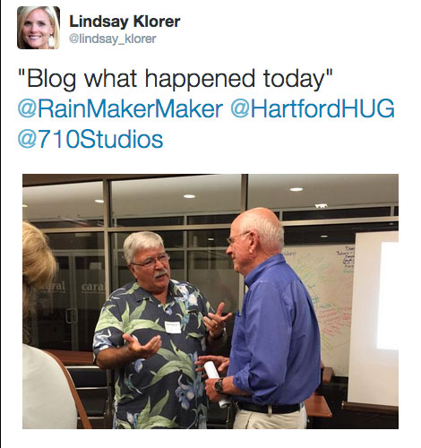 Event Recap - Hartford HUG 8/24/2015 - Rick Roberge